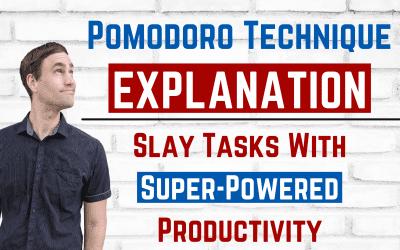 Pomodoro Technique Explanation 🍅 | Slay Tasks With Super-Powered Productivity
